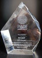 Business Award for PADI CD Ulf Mayer