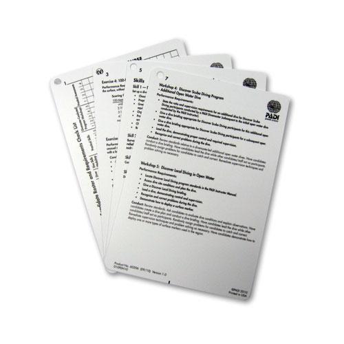 PADI Instructor-Cue Cards - für Divemaster Kurs (Deutsch)- 4 Slates
